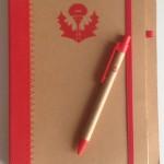 Carnet de note ASNL avec son stylo