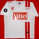 Maillot UEFA extérieur porté (David Sauget) - Schalke Nancy saison 2006 2007