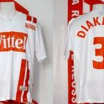 Maillot UEFA extérieur porté (Pape Diakhate) - Bâle Nancy saison 2006 2007 [collection privée Xavinos]