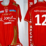 Maillot amical porté (Paul Alo'o Efoulou) - Nancy Juventus saison 2009 2010 [collection privée Xavinos]