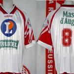 Maillot championnat domicile porté (Eric Rabesandratan) - saison 1995 1996 [collection privée Xavinos]
