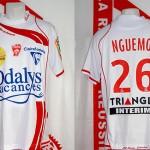 Maillot championnat domicile porté (Landry Nguemo) - Nancy Marseille saison 2008 2009 [collection privée Xavinos]