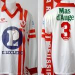 Maillot championnat domicile porté - saison 1993 1994 [collection privée Xavinos]