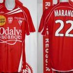 Maillot championnat extérieur porté (Florian Marange) - Lyon Nancy saison 2009 2010 [collection privée Xavinos]