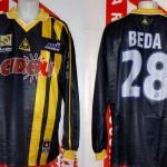 Maillot championnat extérieur porté (Mathieu Beda) saison 2001 2002 [collection privée Xavinos]