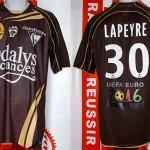 Maillot championnat extérieur porté (Yohan Lapeyre) - Valenciennes Nancy saison 2009 2010 [collection privée Xavinos]