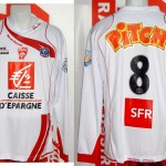 Maillot coupe de France porté (Frédéric Biancalani) - Romorantin Nancy saison 2008 2009 [collection privée Xavinos]
