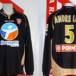 Maillot coupe de la Ligue porté (André Luiz) - Lyon Nancy saison 2006 2007 [collection privée Xavinos]