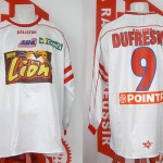 Maillot coupe de la Ligue porté (Laurent Dufresne) - Nantes Nancy saison 2003 2004 [collection privée Xavinos]