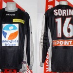 Maillot coupe de la Ligue porté (Olivier Sorin) - saison 2003 2004 [collection privée Xavinos]