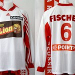 Maillot coupe de la Ligue porté (Paul Fischer) - saison 1999 2000 [collection privée Xavinos]