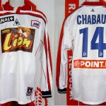 Maillot coupe de la Ligue porté (Sébastien Chabaud) - saison 2000 2001 [collection privée Xavinos]
