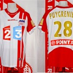 Maillot coupe de la Ligue porté (Sébastien Puygrenier) - finale Nancy Nice saison 2005 2006 [collection privée Xavinos]