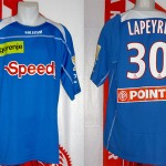 Maillot coupe de la Ligue porté (Yohan Lapeyre) - saison 2007 2008 [collection privée Xavinos]