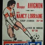 Affiche Nancy Avignon - saison 1974-1975 31eme journée