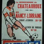 Affiche Nancy Chateauroux - saison 1974-1975 22eme journée