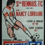 Affiche Nancy Rennes - saison 1973-1974 - 17eme journée