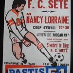 Affiche Nancy Sete - saison 1974-1975 - 33eme journée