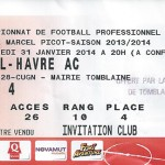 Billet Nancy-Le Havre - saison 2013 2014 (22e j, , 03-02-2014)