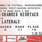 Billet Nancy-Niort saison 2013-2014 (28e j. , 14-03-2014)