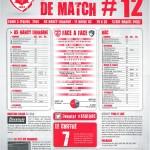 Feuille de match saison 2013-2014 Journée n°12 Le Havre