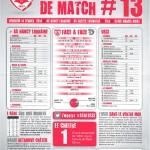 Feuille de match saison 2013-2014 Journée n°13 Créteil
