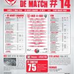 Feuille de match saison 2013-2014 Journée n°14 Metz