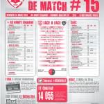 Feuille de match saison 2013-2014 Journée n°15 Niort
