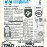 Programme Auxerre Nancy saison 1986 1987  38eme journée