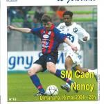 Programme Caen Nancy saison 2003 2004 37eme journée