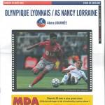 Programme Lyon Nancy saison 2005 2006 04eme  journée
