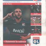 Programme Lyon Nancy saison 2009 2010 04eme journée