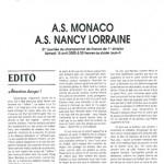 Programme Monaco Nancy saison 1999 2000 31eme journée