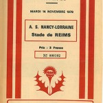 Programme Nancy - Reims - 19eme journée saison 1978 1979