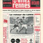 Programme Rennes Nancy saison 1970 1971 12eme journée