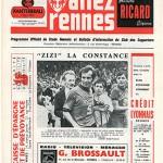 Programme Rennes Nancy saison 1971 1972 08eme journée