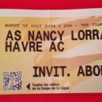 Billet Nancy-Le Havre - Saison 2014-2015 - Coupe de la Ligue (1e tour, 12/08/2014)