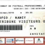Billet Dijon-Nancy - Saison 2014-2015 – L2 (38e j, 22 05 2015)