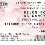 Billet Dijon Nancy Saison 2015 2016 02 04 2016