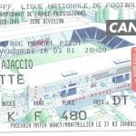 Billet Nancy-Ajaccio - Saison 2000-2001 - D2 (31e j, 16 03 2001)