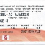 Billet Nancy -  Ajaccio - saison 2011-2012 - L1 (J°17   10;12;2011)