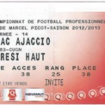 Billet Nancy -  Ajaccio - saison 2012-2013 - L1 (j°14 24;11;2012)