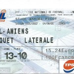 Billet Nancy-Amiens - Saison 2001-2002 – L2 (02e j, 04 08 2001)