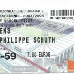 Billet Nancy-Amiens - Saison 2003-2004 – L2 (13e j, 25 10 2003)