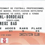Billet Nancy -  Bordeaux - saison 2011-2012 - L1 (J°32 - 15;04;2012)