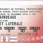 Billet Nancy -  Bordeaux - saison 2012-2013 - L1 (j°18 - 16;12;2012 )