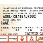 Billet Nancy- Chateauroux - Saison 2014-2015 - L2 (25e j 20 02 2015)