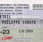Billet Nancy - Créteil - saison 2004-2005 - L2 (32°j - 08;04;2005 )