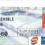 Billet Nancy-Grenoble - Saison 2001-2002 – L2 (15e j, 09 11 2001)