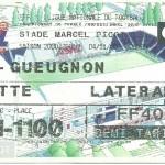 Billet Nancy-Gueugnon - Saison 2000-2001 - D2 (18e j, 04 11 2000)